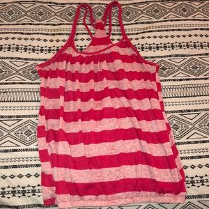Tops - Pink stripped tank top